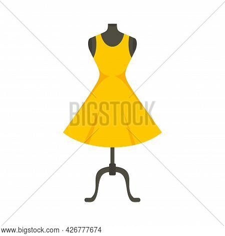 Fashion Mannequin Icon. Flat Illustration Of Fashion Mannequin Vector Icon Isolated On White Backgro