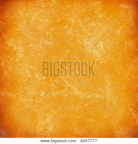Stained Orange Plaster Wall