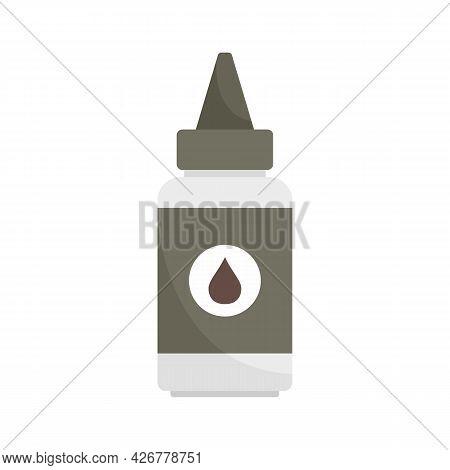 Hair Dye Bottle Icon. Flat Illustration Of Hair Dye Bottle Vector Icon Isolated On White Background