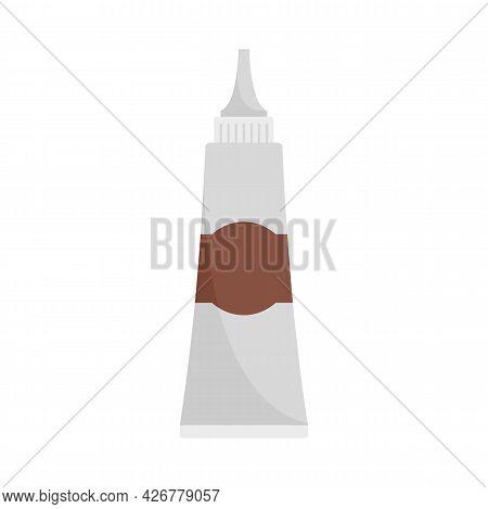 Hair Dye Tube Icon. Flat Illustration Of Hair Dye Tube Vector Icon Isolated On White Background