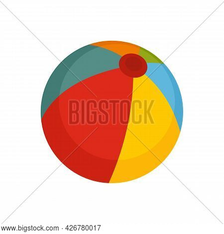 Beach Ball Icon. Flat Illustration Of Beach Ball Vector Icon Isolated On White Background