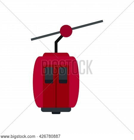 Cable Car Icon. Flat Illustration Of Cable Car Vector Icon Isolated On White Background