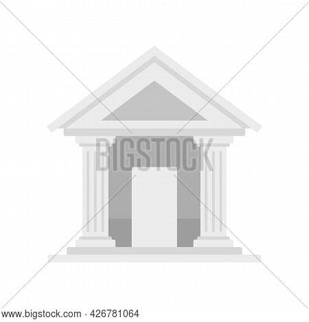 Swiss Bank Building Icon. Flat Illustration Of Swiss Bank Building Vector Icon Isolated On White Bac