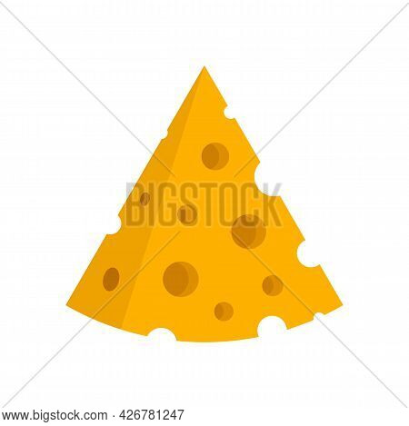 Swiss Cheese Icon. Flat Illustration Of Swiss Cheese Vector Icon Isolated On White Background