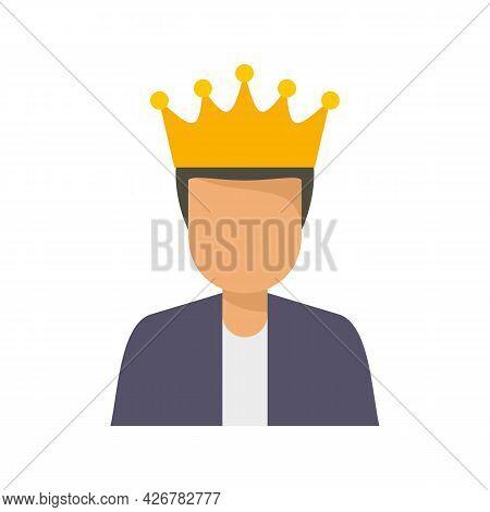 King Loyalty Program Icon. Flat Illustration Of King Loyalty Program Vector Icon Isolated On White B