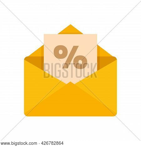 Loyalty Mail Icon. Flat Illustration Of Loyalty Mail Vector Icon Isolated On White Background