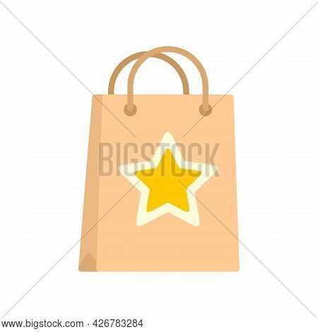 Loyalty Paper Bag Icon. Flat Illustration Of Loyalty Paper Bag Vector Icon Isolated On White Backgro