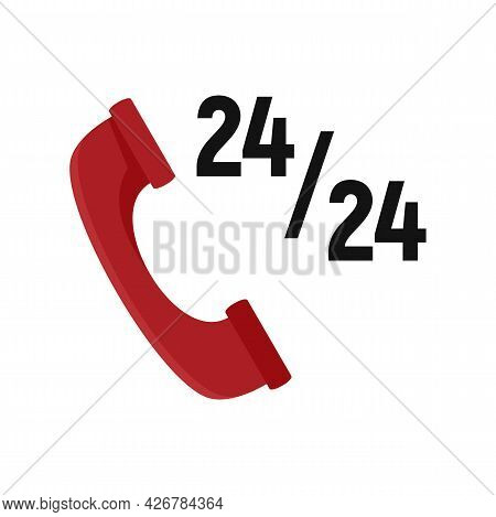 Customer Call Center Icon. Flat Illustration Of Customer Call Center Vector Icon Isolated On White B
