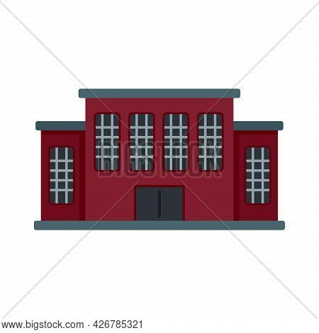 Tribunal Building Icon. Flat Illustration Of Tribunal Building Vector Icon Isolated On White Backgro