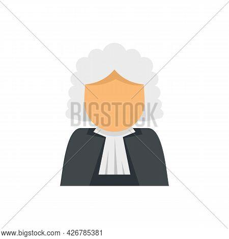 Judge Avatar Icon. Flat Illustration Of Judge Avatar Vector Icon Isolated On White Background