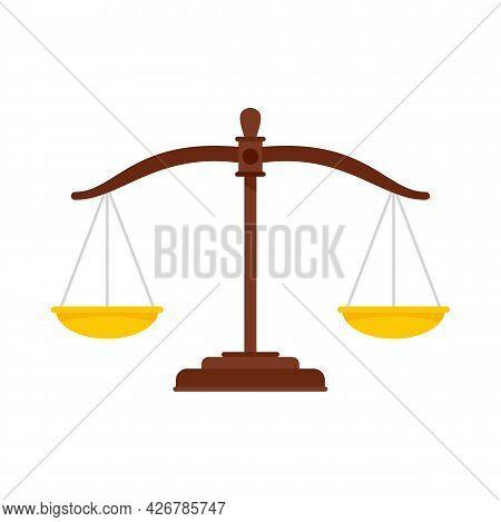 Judge Balance Icon. Flat Illustration Of Judge Balance Vector Icon Isolated On White Background