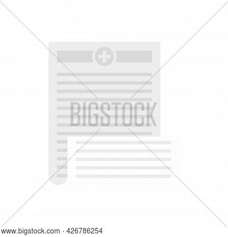 Pharmacist Prescription Icon. Flat Illustration Of Pharmacist Prescription Vector Icon Isolated On W