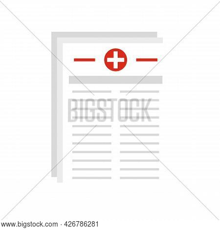 Medical Pharmacist Papers Icon. Flat Illustration Of Medical Pharmacist Papers Vector Icon Isolated
