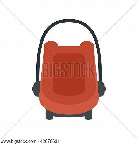 Baby Car Seat Booster Icon. Flat Illustration Of Baby Car Seat Booster Vector Icon Isolated On White