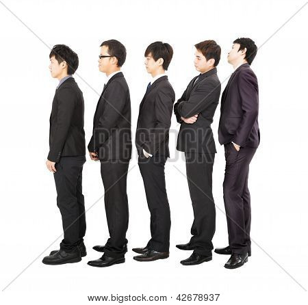 Business People Standing In A Line And Waiting