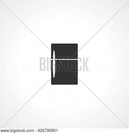 Fridge Icon. Fridge Isolated Simple Vector Icon