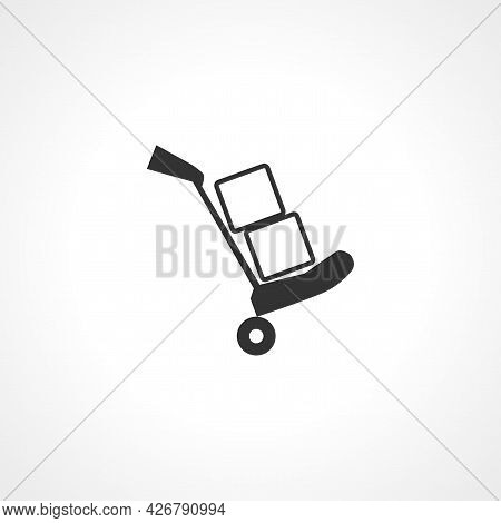 Luggage Trolley Icon. Luggage Trolley Isolated Simple Vector Icon