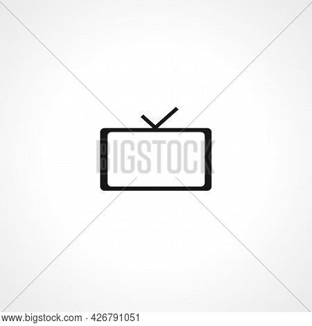 Television Icon. Television Isolated Simple Vector Icon