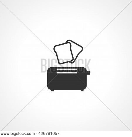 Toaster Icon. Toaster Isolated Simple Vector Icon
