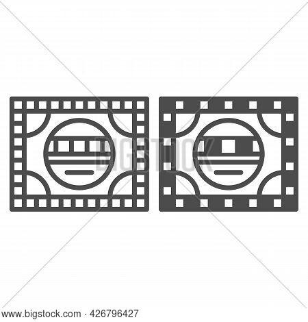 Setting Table Line And Solid Icon, Monitors And Tv Concept, Electronic Configuration Vector Sign On