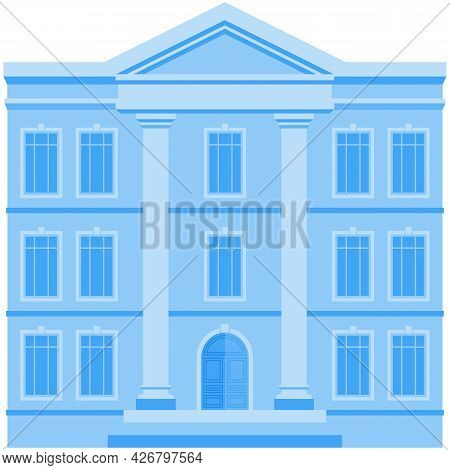 Building Icon, Vector House City Business Office Or Government