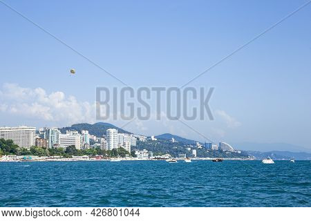 Panorama Of The City Of Sochi, View From The Sea. Sochi, 08.07.2021