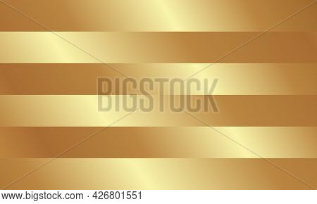 Horizontal Golden Lines Background With Different Tonality.