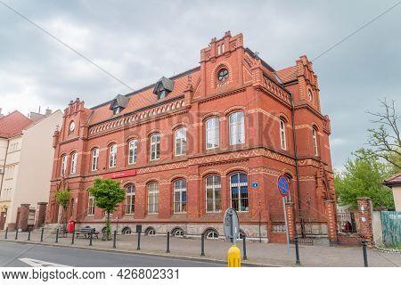 Lubin, Poland - June 1, 2021: Polish Post Office (polish: Poczta Polska) In Lubin.