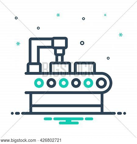 Mix Icon For Production Manufacturing Manufacture Making Factory Automation Technology