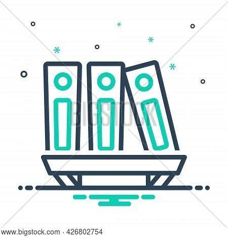 Mix Icon For Archive-files Library Books Files Folder Shelf Bookshelf Education Encyclopedia Collect