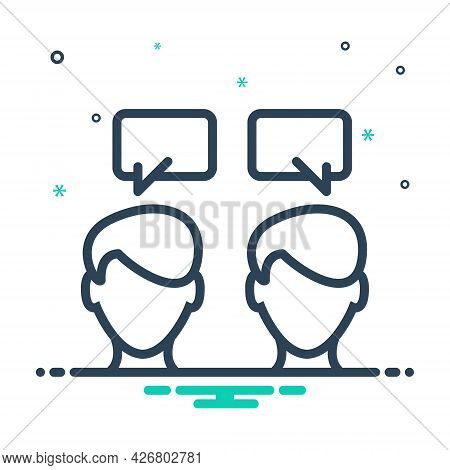 Mix Icon For Communication Talking Conversation Chitchat Discussion Parley Person Message Chatting