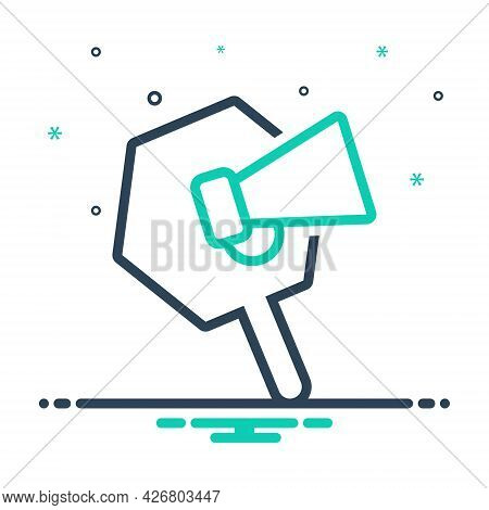 Mix Icon For Promotion Loudspeaker Megaphone Announce Publicity Marketing Announcement Speaker Notic