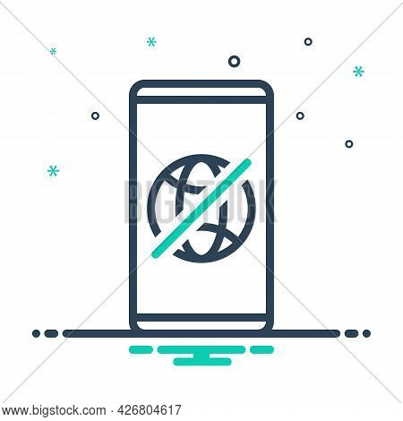 Mix Icon For Offline Connection Technology Transmit Transmission Wireless Prohibition Restricted Dis
