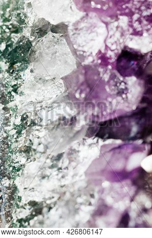 Amethyst crystal in macro view  photography