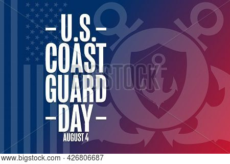 United States Coast Guard Day. August 4. Holiday Concept. Template For Background, Banner, Card, Pos