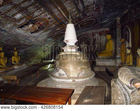 Dambulla, Sri Lanka - 07 Jan 2011: The Statue Buddha In Golden Temple Of Dambulla, Sri Lanka