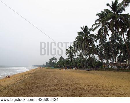 Galle, Sri Lanka - 10 Jan 2011: The Beach Of Sri Lanka, West Coast, Indian Ocean