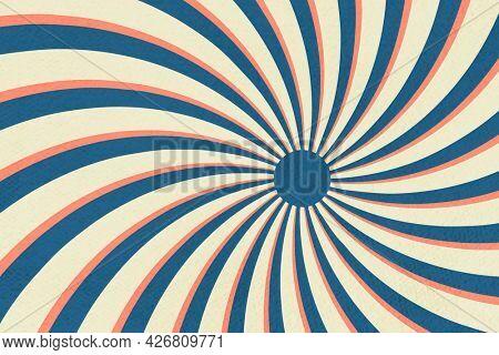 Spiral sunburst effect patterned background