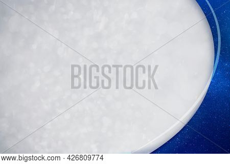 Starry navy blue curve frame template