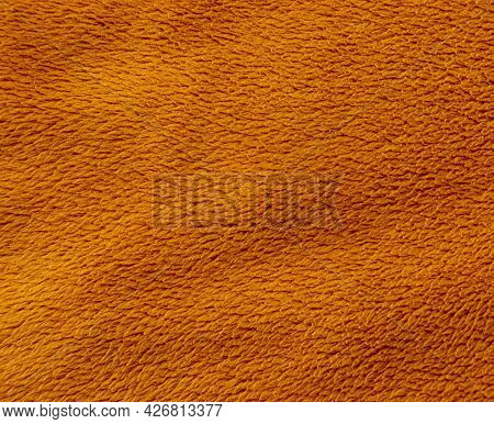 Image Of Fabric Velvet Background In Brown Color