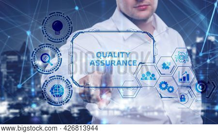 Business, Technology, Internet And Network Concept. Quality Assurance Service Guarantee Standard