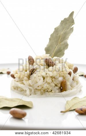 Sour turnip with millet and buckwheat. Slovenian traditional food Bujta repa. poster