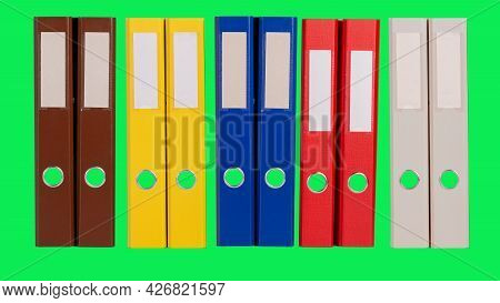 Folder For Business Accountants For Documents For The Archive Of Financial Transactions On An Isolat