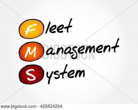 Fms - Fleet Management System Acronym, Business Concept Background