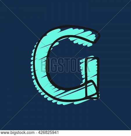 Letter G Logo Hand-drawn With Felt-tip And Marker Strokes. Perfect To Use In Any Comic Strip Pages,