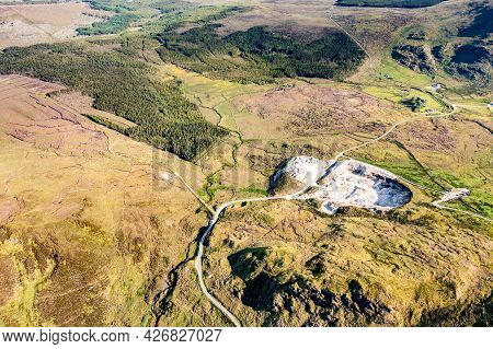 Grannys Pass And Quarry In Country Donegal, Ireland