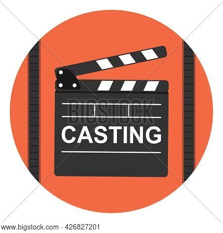 Casting, Casting Audition Badge. Vector Illustration. Vector.