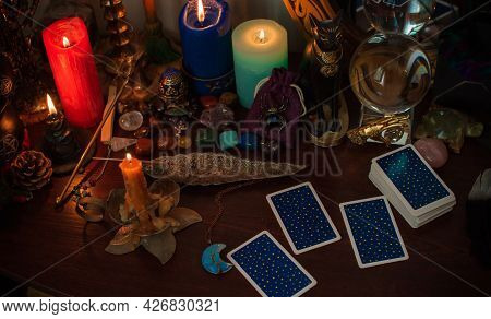 Concept Of Magic. Tarot Cards Predictions ,and Other Old European Magic