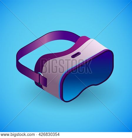 Realistic Virtual Reality Glasses In Isometry. Vector Isometric Illustration Of Electronic Device, V