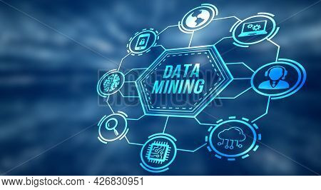 Internet, Business, Technology And Network Concept. Data Mining Concept. 3d Illustration